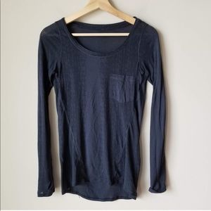 Lululemon sheer navy long sleeve